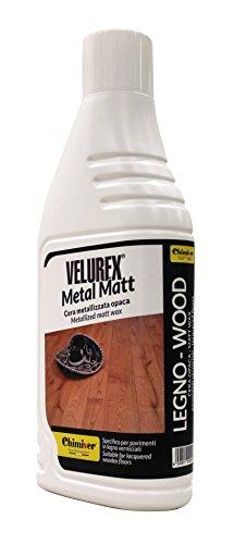 Chimiver Cera Metallizzata Opaca per la Manutenzione di parquet verniciati, Pavimenti in Resina...