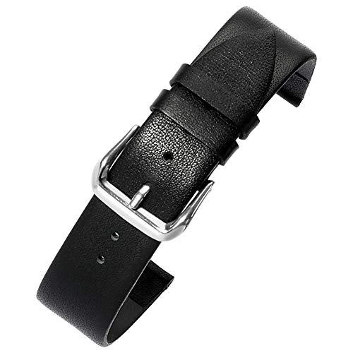 aggraziato grano vitello pieno nascondere orologio sostituzione cinghia banda 14mm Donna in nero con la classica fibbia ad ardiglione