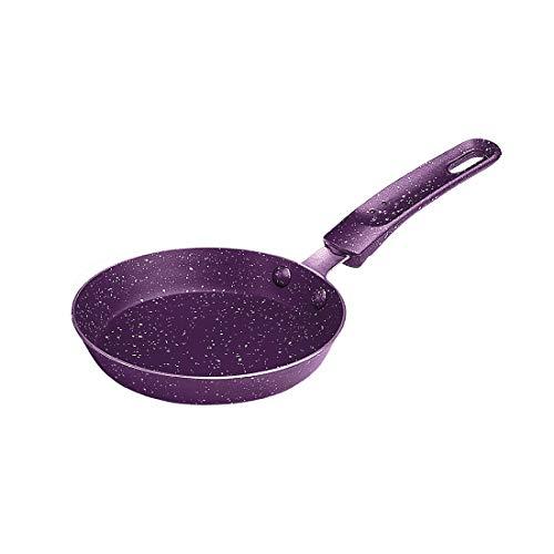 Shri & Sam Mini Fry Pan, Aluminum Non-Stick, Omelette, Purple