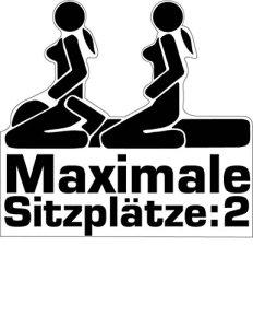 Aufkleber Sticker Maximale Sitzplätze JDM Tuning Autoaufkleber Fun Lustig Stickerbomb Sex Girls 15