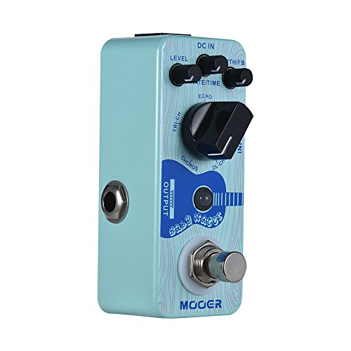 Festnight MOOER Baby Water Acoustic Guitar Delay & Chorus Effect Pedal True Bypass Full Metal Shell