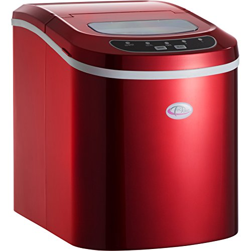 TecTake MACCHINA FABBRICATORE PRODUTTORE DI PER GHIACCIO - disponibile in diversi colori - (Rosso)