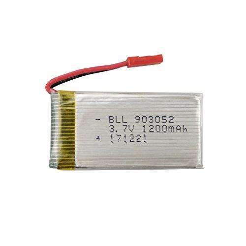 Fytoo 1PCS Batteria Lipo Ricaricabile (3.7V, 1200mAh Lipo) per Rc Droni Quadricotteri huanqi 898B...