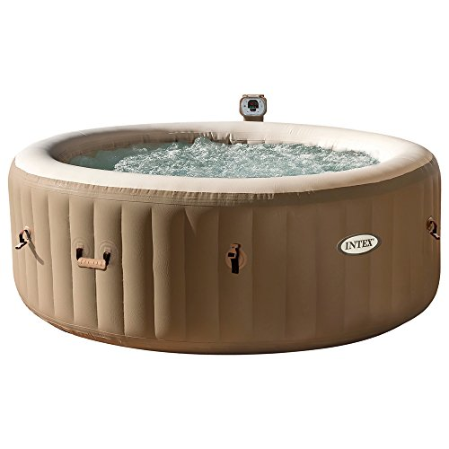 Intex PureSpa - Spa hinchable120 burbujas, 4 personas, 795 l - color crema (28404)