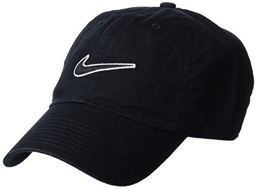 Nike Heritage 86 Essential Swoosh Gorra Regulable, Unisex Adulto, Negro (Black), Talla Única