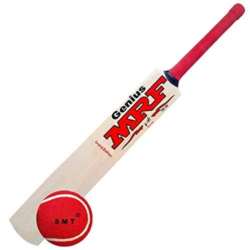 SMT M_F Genius Virat Kohli Popular Willow Cricket Bat with Ball