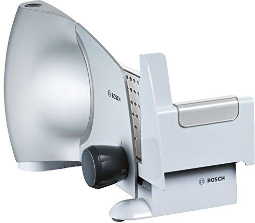 Bosch MAS6151M - Cortafiambres rebanadora, potencia 110 W, material plástico, cuchilla 2 en 1 acero inoxidable, color blanco