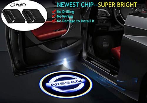 2 proiettori LED universali senza fili per auto, luci di benvenuto con logo laser, per tutte le auto