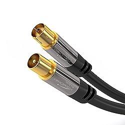 Kaufen KabelDirekt Pro Series Antennenkabel (2m, durchgängige Schirmung, 75 Ohm, Koax Stecker auf Koax Kupplung, Premium Koaxialkabel, TV, HDTV, Radio, KabelfernsehenDVB-T, DVB-C, DVB-S, DVB-S2, UKW, DAB, DAB+)