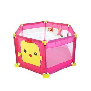 LIUFS-Valla Fence Children's Anti-Fall Game Fence Alfombra de rastreo de Seguridad para Interiores Inicio (Color : Pink…