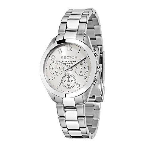 Sector No Limits Orologio Cronografo Quarzo da Donna con Cinturino in Acciaio Inox R3253588502