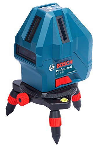 Bosch GLL5-50 Plastic Professional 5-Line Laser Level Measure Beam (Blue)