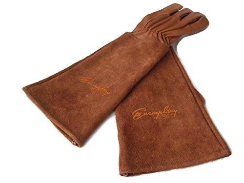 Guanti da giardinaggio per gli uomini e le donne. Pelle di capra guanti da giardinaggio in pelle con...