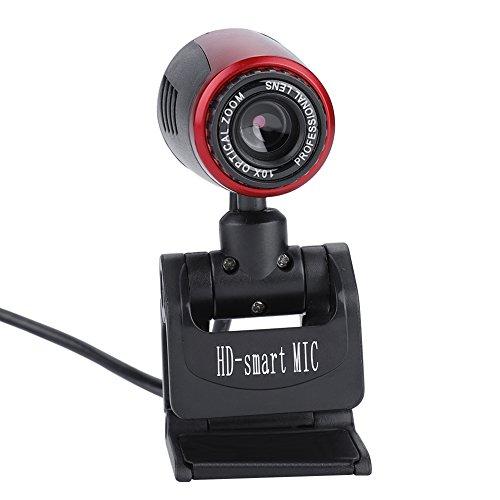 Web Camera, Mic 16MP HD, Fotocamera USB 2.0, grandangolo di 360°, per Computer, PC, Laptop, Skype, MSN