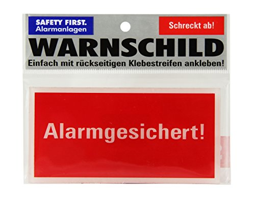 kh security Warnschild Alarmgesichert Safety First, rot, 100156