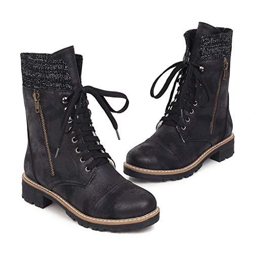 Scarpe Moda Stivaletti Scarponcini Boots bi-Materiale Zeppe Donna Pelle di Serpente Elastico Tacco a Blocco Alto 9 CM Foderato di Pelliccia