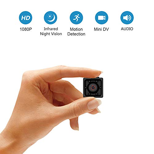 Supoggy Mini telecamera spia nascosta, Full HD 1080P Portatile Piccola videocamera con visione notturna, registrazione video