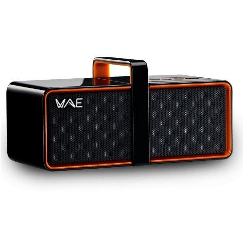 Hercules 4780558 - Altavoz con Bluetooth y micrófono, color naranja