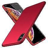 TopACE Cover iPhone XS Max Custodia iPhone XS Max Ultra Sottile Che Cade Superficie Protettiva Opaca Custodia per iPhone XS Max (Rosso)