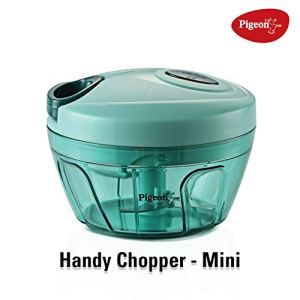 Pigeon by Stovekraft New Handy Mini Plastic Chopper with 3 Blades, Green 2  Pigeon by Stovekraft New Handy Mini Plastic Chopper with 3 Blades, Green 41s3uAl9k6L