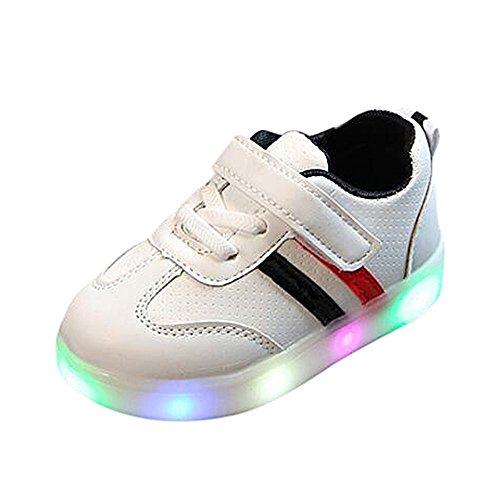 Topgrowth Scarpe LED Bambina Unisex Scarpe da Ginnastica Sneakers Luminose Casual Sneakers per Bambini 1-6 Anni (21, Nero)