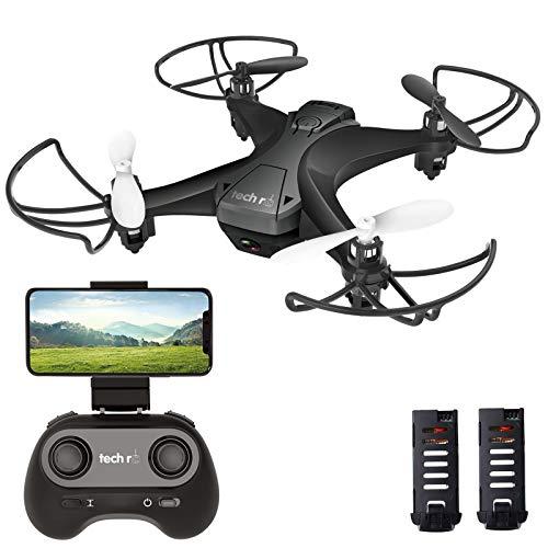 tech rc Mini Drone con Telecamera con Due Batterie Funzione di Sospensione Altitudine Un Pulsante di...