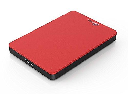 Sonnics 250GB rosso hard disk esterno portatile USB 3.0 Super velocità di trasferimento per uso con...