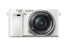 """Sony Alpha 6000 - Cámara compacta de 24.3 Mp (pantalla de 3.0"""", zoom óptico 3x), blanco (importado)"""