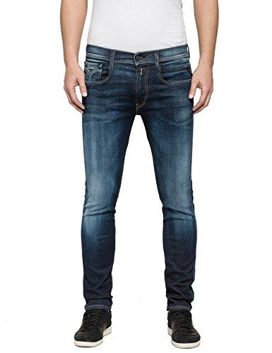 Replay Herren Anbass Slim Jeans, Blau (Blue Denim 9), W34/L34...