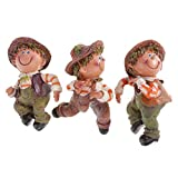 Tubayia 3 Unidades de Resina, Escalada, Sombrero de Paja para muñecas, Figura, Figura Decorativa para jardín, Maceta, decoración de bonsái
