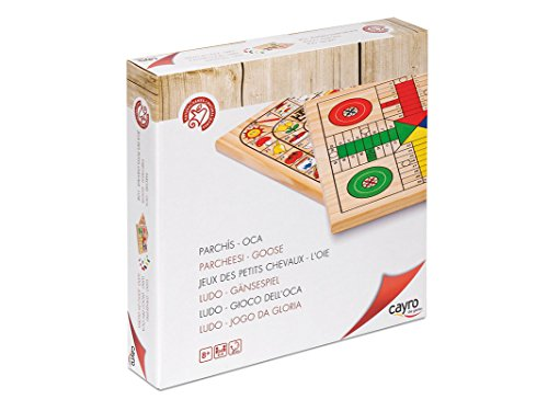 Cayro-632-Parchs-de-madera-juego-de-tablero-632-Parchis-Oca-30x30-Juego-de-Mesa