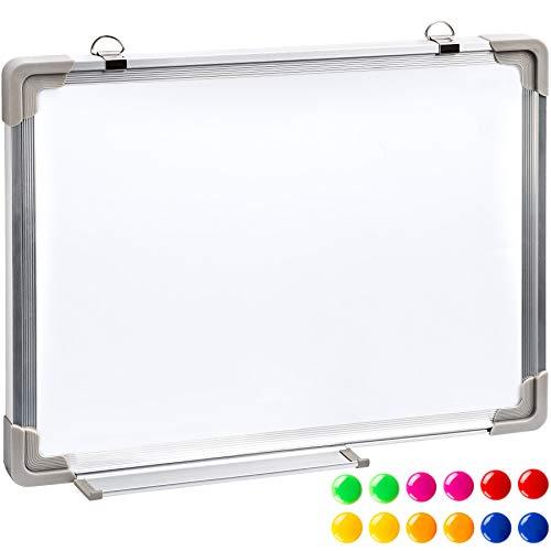 TecTake Lavagna magnetica bianca con 12 magneti - disponibili in diverse misure - (40x30cm)