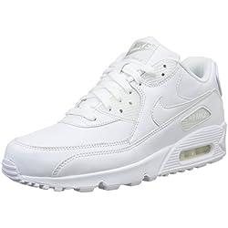 Nike Air MAX 90 Leather, Zapatillas para Hombre, Blanco True White 113, 43 EU