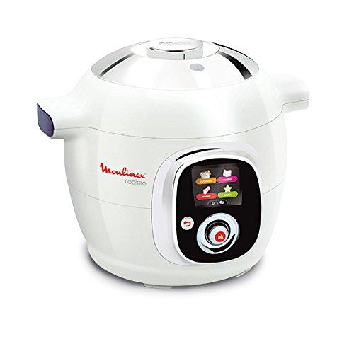 Moulinex CE7041 Intelligent Cookeo Multicuiseur avec 100 Recettes Blanc/Finition Chromé