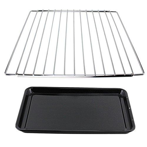 Spares2go universale regolabile cromato ripiano + grande teglia per forno di cucina