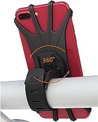 Kaufen Bovon Handyhalterung Fahrrad für iPhone X/8/7/6/6s Plus, Samsung Galaxy & allen Handy mit 4,0 - 6,0 Zoll, Universal Silikon Verstellbarer Handyhalter für Fahrrad Motorrad, 360°Rotation