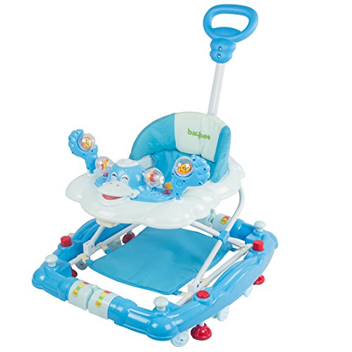 Baybee Cheezy Walker Cum Rocker With Music & Light Function With 3 Position Height Adjustable With Control Push Bar ( Blue )