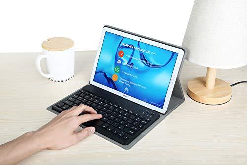 KILISON Huawei MediaPad M5 10.8 [QWERTZ Clavier] Clavier Étui Coque, Détachable Wireless Clavier Stand avec PU Case Bluetooth Housse pour Hu... 29