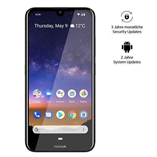 Nokia 2.2 Dual Sim Smartphone - Deutsche Ware (14,5 cm (5.71 Zoll), 13 MP Hauptkamera, 2GB RAM, 16 GB interner Speicher, Android 9 Pie) Schwarz