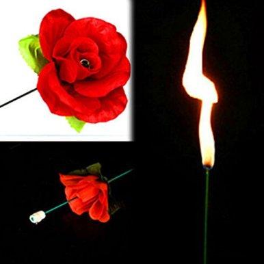 Gogogo-Zaubertrick-Feuer-zur-Rose-Blume-fr-Bhnen-Property-Schauspiel-Show-Party-Liebhaber-Geschenk