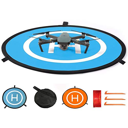 CHUER Drone Landing Pad, Universal Waterproof (D 75cm/30) Landing Pad Pieghevole Portatile per...