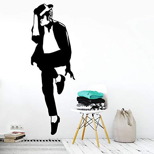 Jackson famoso cantante wall sticker vinile arte camera da letto rimovibile decorazione design...