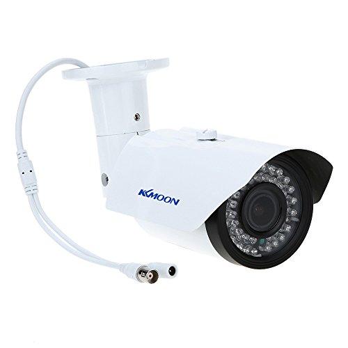 KKmoon, Telecamera IP Esterno, Telecamera Impermeabile, Bullet Camera 2.8-12mm 1200TVL 1/3' Sony 42IR Varifocale TP-W225BK