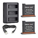 Newmowa Batería de Repuesto (2-Pack) y Kit de Cargador para Mini USB portátil para dji OSMO Action Camera