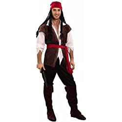 Caribbean Pirate Men's Fancy Dress Costume One Size (disfraz)