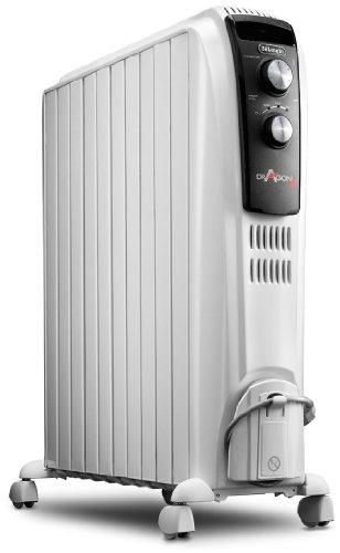 DeLonghi Dragon TRD04-1025 - Radiador de aceite, 2500 W, color blanco