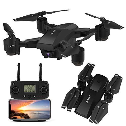 INKPOT Drone GPS JJRC H78G 5G WiFi FPV Rc Drone Pieghevole con videocamera HD 1080P Video Live RC Quadcopter con Follow Me, Smart Return Home, Dual Control Mode Drone Pieghevole per Adulti (Nero)