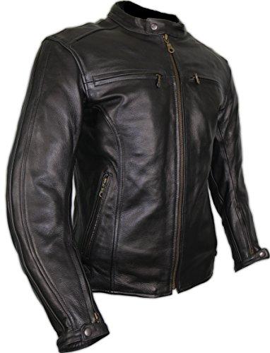 online store 2bc18 3c999 MDM Herren Lederjacke, Motorrad Lederjacke, Bikerjacke, Rind Leder,