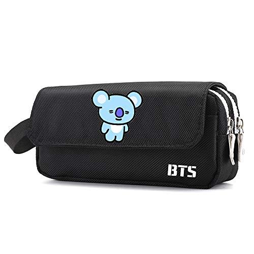 BTS Astuccio per Matite Astuccio per sacchetti di scuola per ragazze (Color : Black08, Size : 20 X 6...