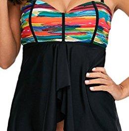 EmilyLe con Shorts Due Pezzi Costumi da Bagno Tankini Top colorato delle Donne